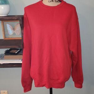 Like New Fruit of the Loom Red Sweatshirt Size Lrg